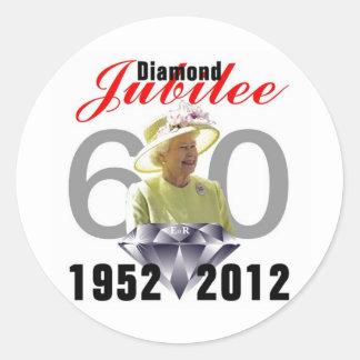 Diamond Jubilee 1952-2012 Classic Round Sticker