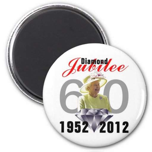 Diamond Jubilee 1952-2012 Fridge Magnets