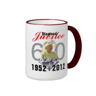 Diamond Jubilee 1952-2012 Ringer Mug