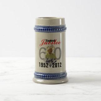 Diamond Jubilee 1952-2012 Stein Coffee Mugs