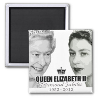 Diamond Jubilee 2 Inch Square Magnet
