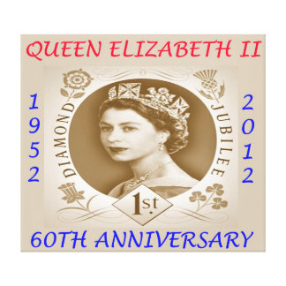 Diamond Jubilee 60th Anniversary Wall Canvas Art