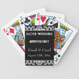 Diamond Jubilee 60th Wedding Anniversary Bicycle Playing Cards