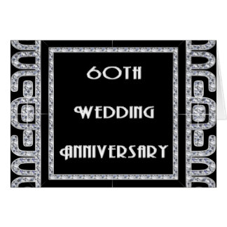 Diamond Jubilee 60th Wedding Anniversary Card