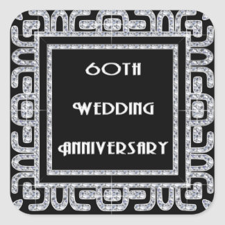 Diamond Jubilee 60th Wedding Anniversary Square Sticker