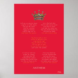 Diamond Jubilee Anthem Red Poster
