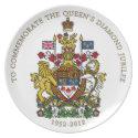 Diamond Jubilee Canada plate