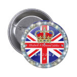 Diamond Jubilee Commemorative  Pin back Button