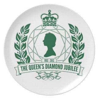 Diamond Jubilee Commemorative Plate [Facet]