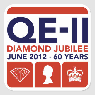 Diamond Jubilee Commemorative Stickers