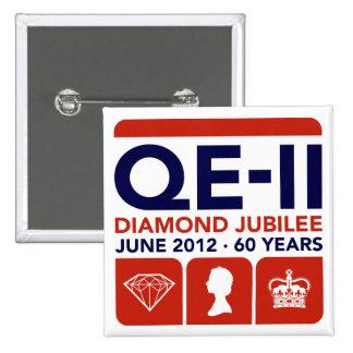 Diamond Jubilee Commemorative T-Shirt Pinback Button