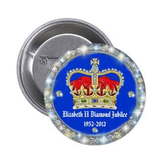 Diamond Jubilee Crown Badge Pinback Button