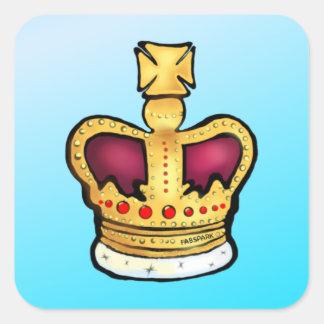 Diamond Jubilee Crown gorgeous drawing Square Sticker