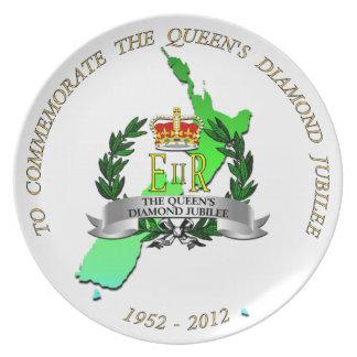 Diamond Jubilee New Zealand Plate