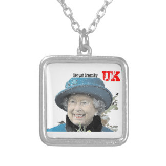 Diamond Jubilee Queen 90th birthday Royal Windsor Silver Plated Necklace