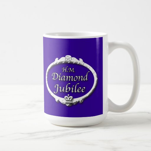 Diamond Jubilee-Queen Elizabeth Classic White Coffee Mug