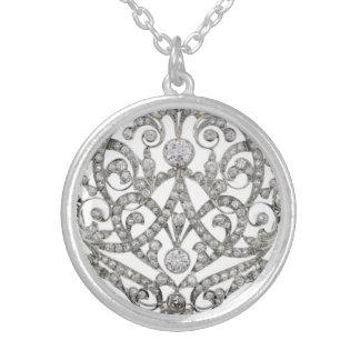 Diamond Lace Vintage Costume Jewelry Charm