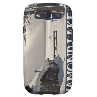 Diamond Lake Marina Winter Samsung Galaxy S3 Cover