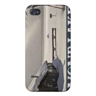 Diamond Lake Marina Winter iPhone 4/4S Case
