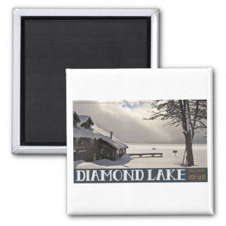 Diamond Lake Marina Winter Magnet
