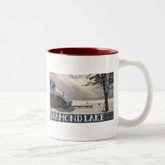 Diamond Lake Marina Winter Two-Tone Coffee Mug