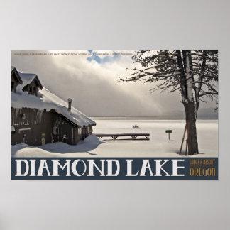 Diamond Lake Marina Winter Poster