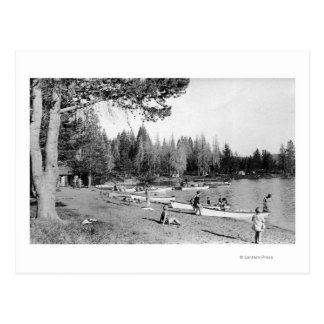 Diamond Lake Oregon Beach Swimmers Photograph Post Cards