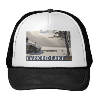 Diamond Lake Winter Marina - No Text Hat