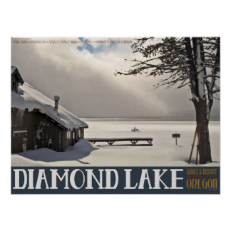 Diamond Lake Winter Poster