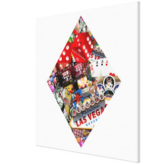 Diamond - Las Vegas Playing Card Shape Canvas Print