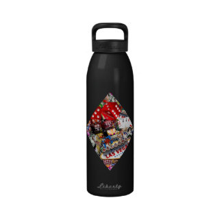 Diamond - Las Vegas Playing Card Shape Reusable Water Bottle