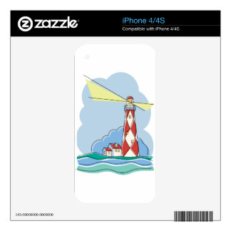 Diamond Lighthouse Decals For iPhone 4