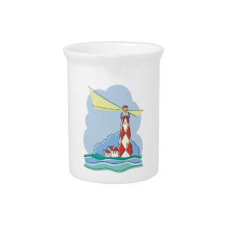 Diamond Lighthouse Pitcher