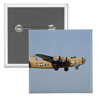 Diamond Lil B-24 Bomber, landing at Oshkosh, 2 Inch Square Button
