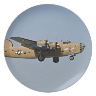 Diamond Lil B-24 Bomber, landing at Oshkosh, Party Plate