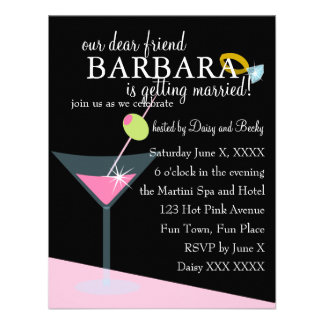 Diamond Martini Custom Invitations