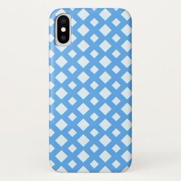 Diamond Mesh (blue) iPhone XS Case