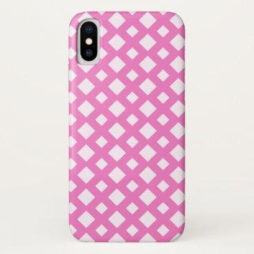 Diamond Mesh (pink) iPhone XS Case