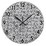 Diamond Metal Plate Clock