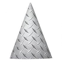 Diamond Metal Plate Party Hat