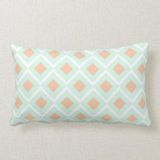Throw Pillows In Mint Green : Diamond Mint Green Rectangle Throw Pillow Zazzle