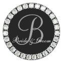 Diamond monogram B customizable seal sticker