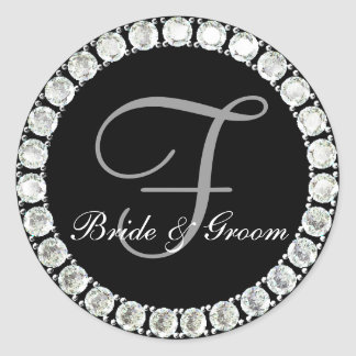 Diamond monogram F customizable seal