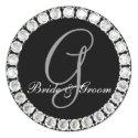 Diamond monogram G customizable seal sticker