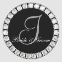 Diamond monogram I customizable seal sticker