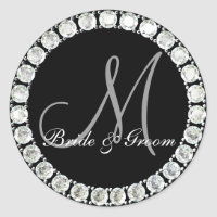 Diamond monogram M customizable seal