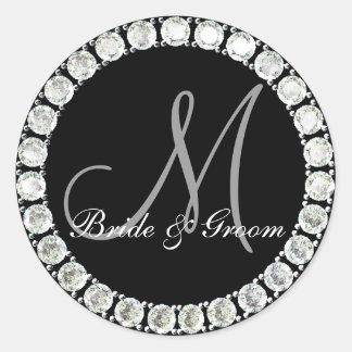 Diamond monogram M customizable seal