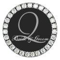 Diamond monogram Q customizable seal sticker