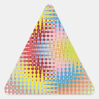 Diamond Multicolor Paper Craft Patterns Sticker