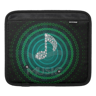 Diamond Music Note ipad Sleeves Horizontal